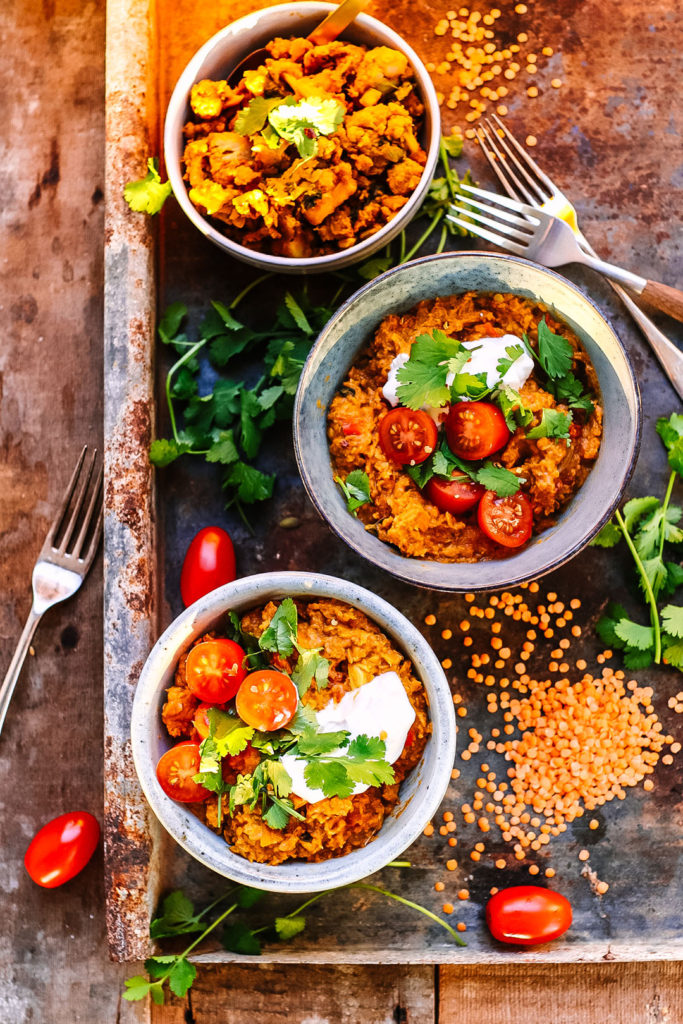 tomato lentil dal