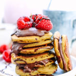 Mini Oat and Banana Pancake Sandwiches – vegan and wheat free