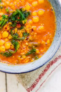 Spicy chickpea soup