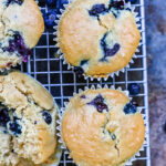 Blueberry & Lemon Muffins ~ gluten-free & vegan