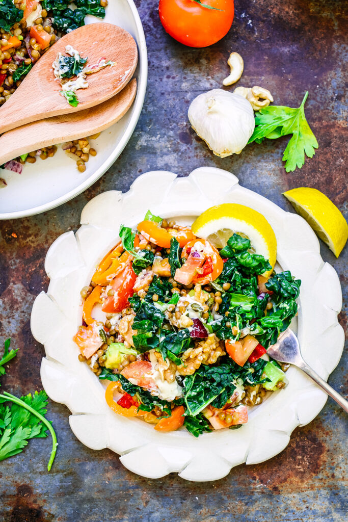 summer lentil salad
