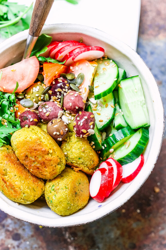 lemon and herb falafel