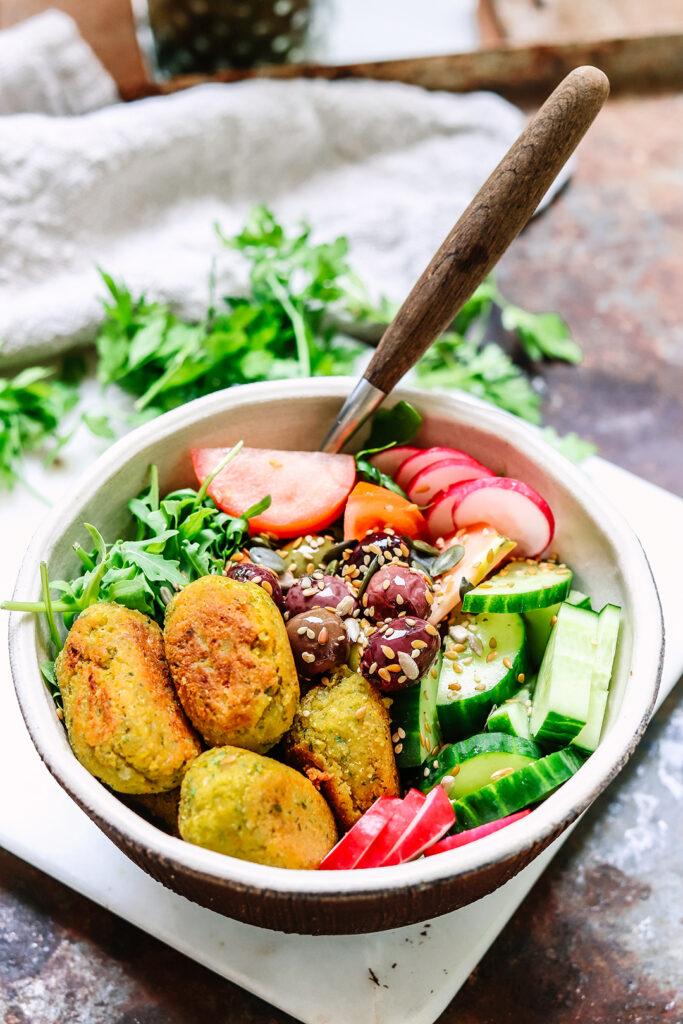 lemon and herb falafels