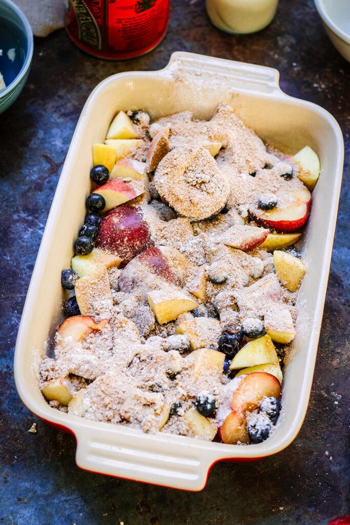 Dusted Fruit dish