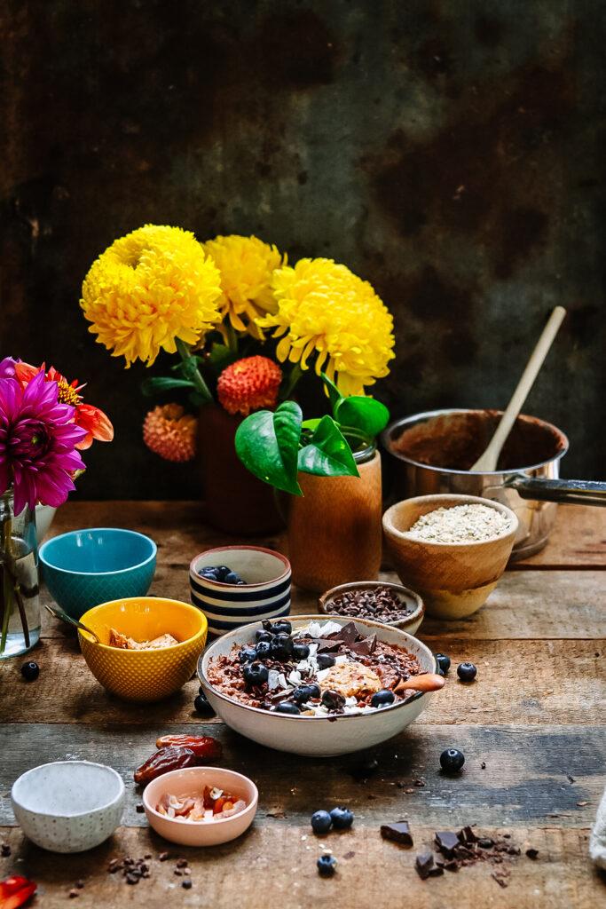 Porridge & flowers