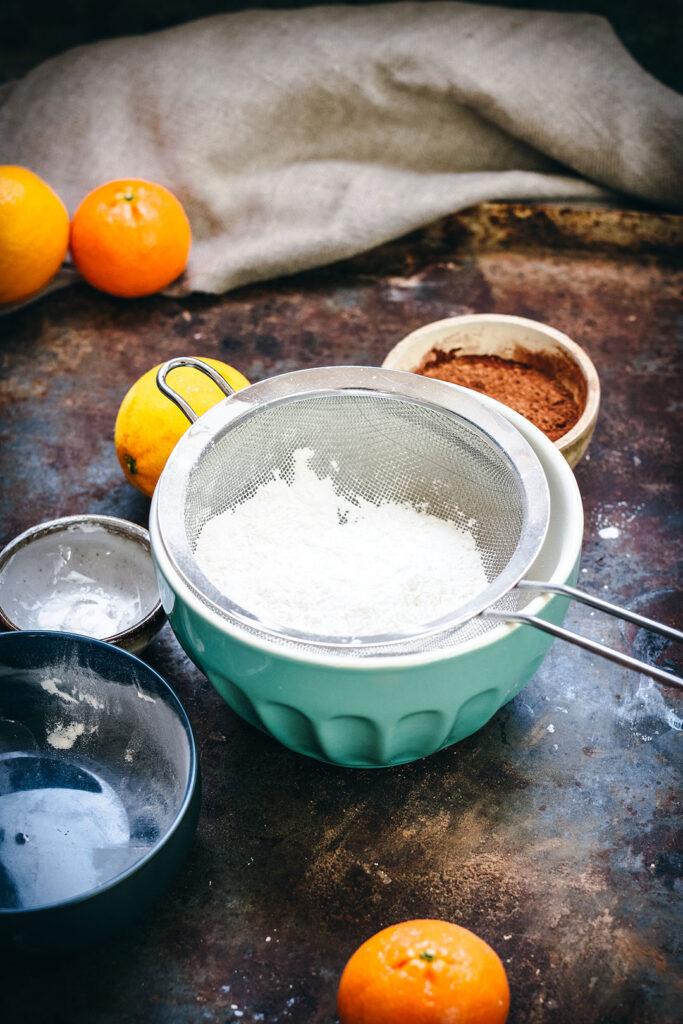 Chocolate Orange Steamed pudding ingredients