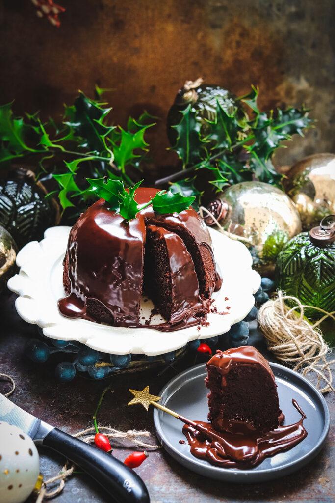Chocolate orange steamed pudding