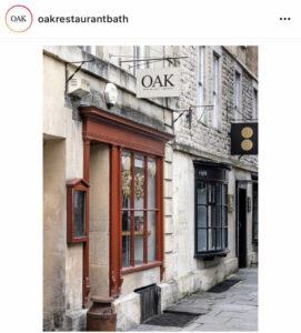 Oak restaurant Bath