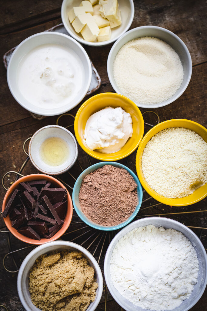 mince pie brownie ingredients