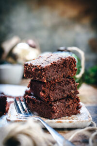 mince pie brownie stack