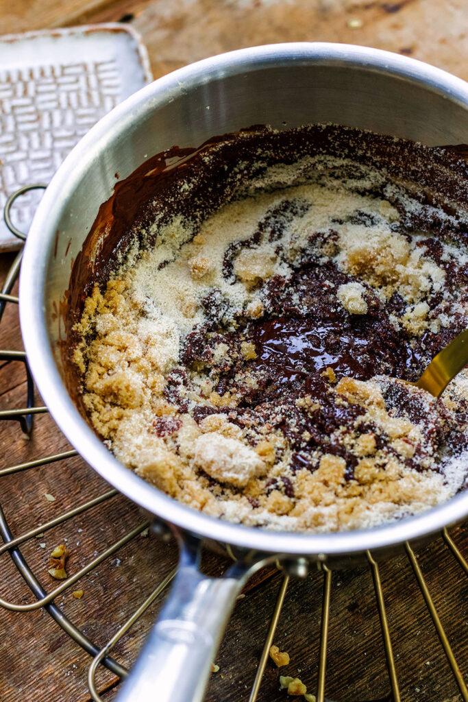 mince pie brownie sugar mix