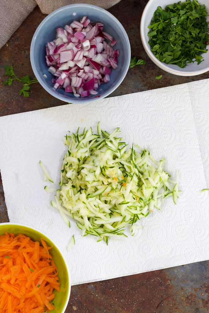 grated-courgette