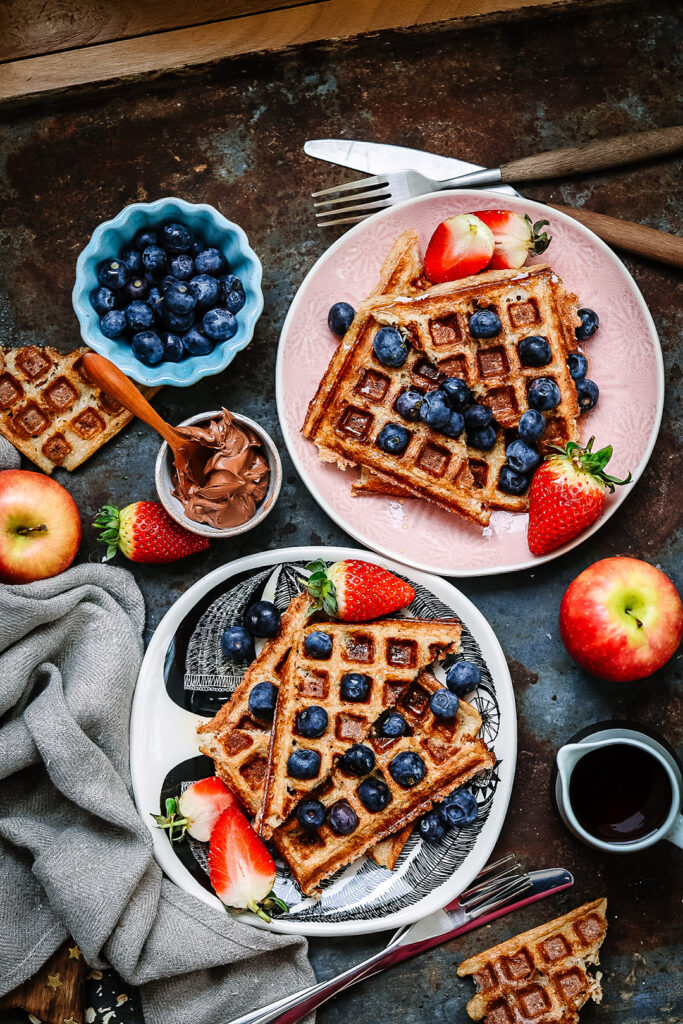 banana-and-oat-waffles