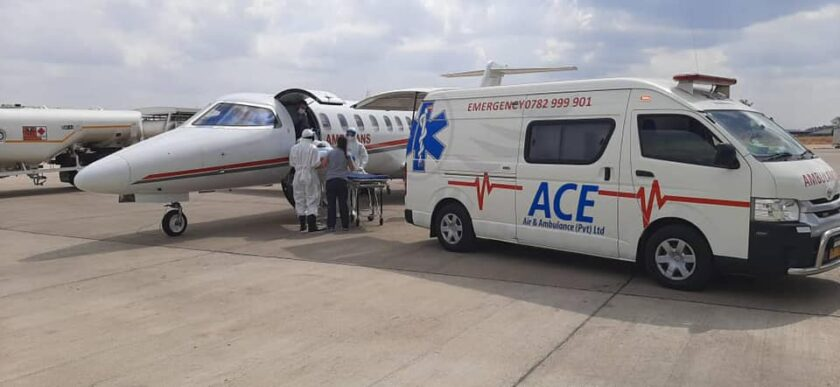 Ace air ambulance Zimbabwe