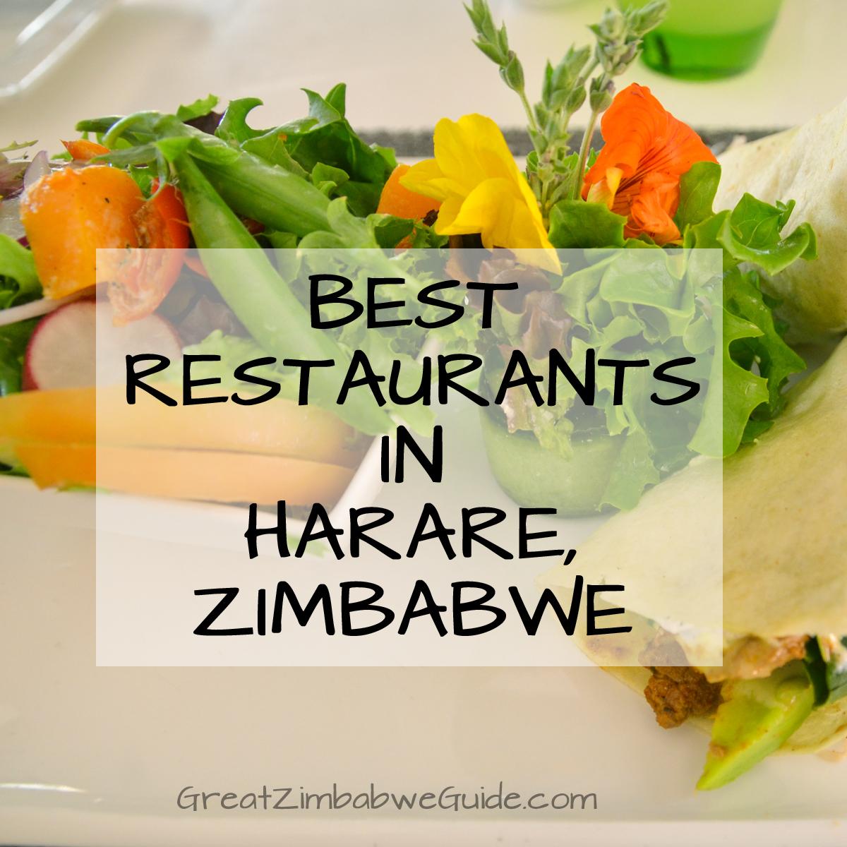 Best restaurants in Harare Zimbabwe Africa