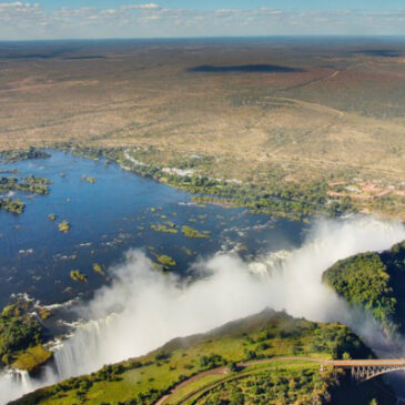 Best Vic Falls activities: 7. See Victoria Falls from a helicopter