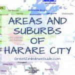 Zimbabwe Harare areas and suburbs