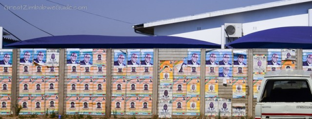 Election posters Zimbabwe