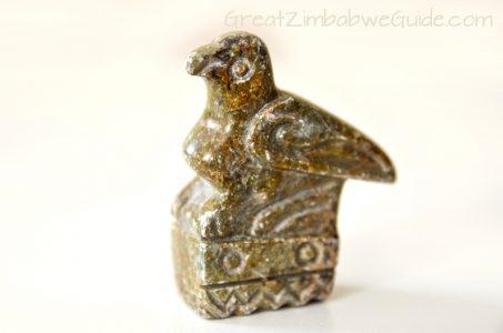 Great Zimbabwe Bird Chevron Soapstone