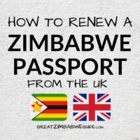 Renew Zimbabwe passport