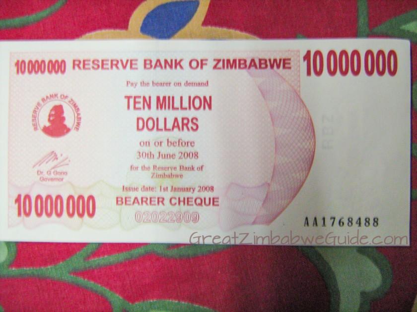 Great Zimbabwe Guide 2008 Ten Million Dollars