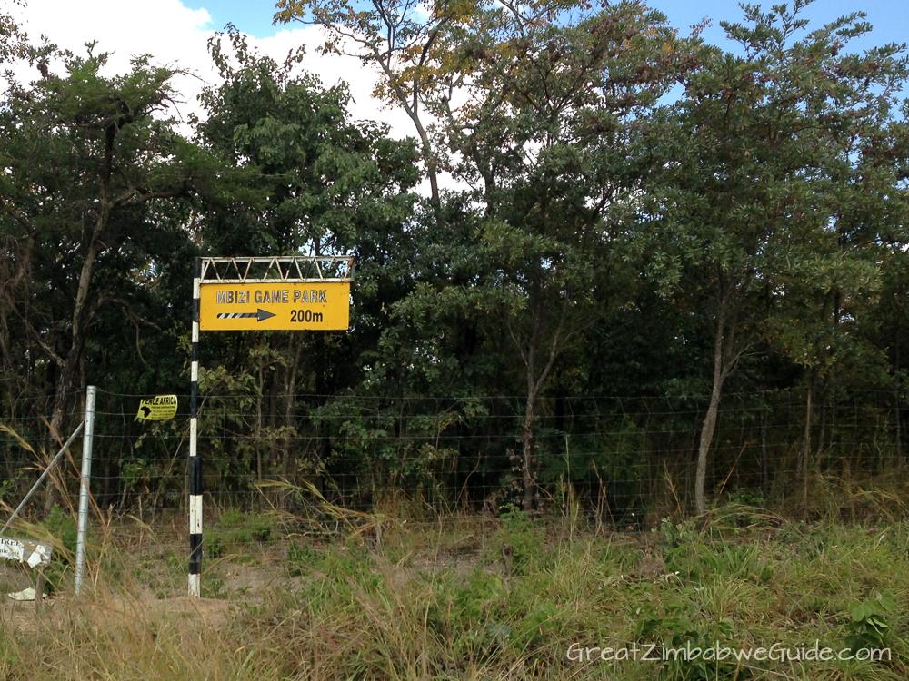 Mbizi Game Park Zimbabwe road directions