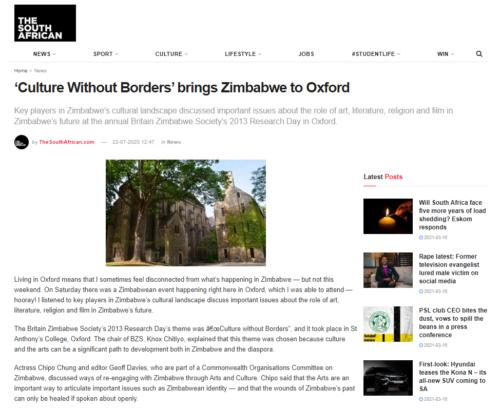Zimbabwe Oxford Beth Norton