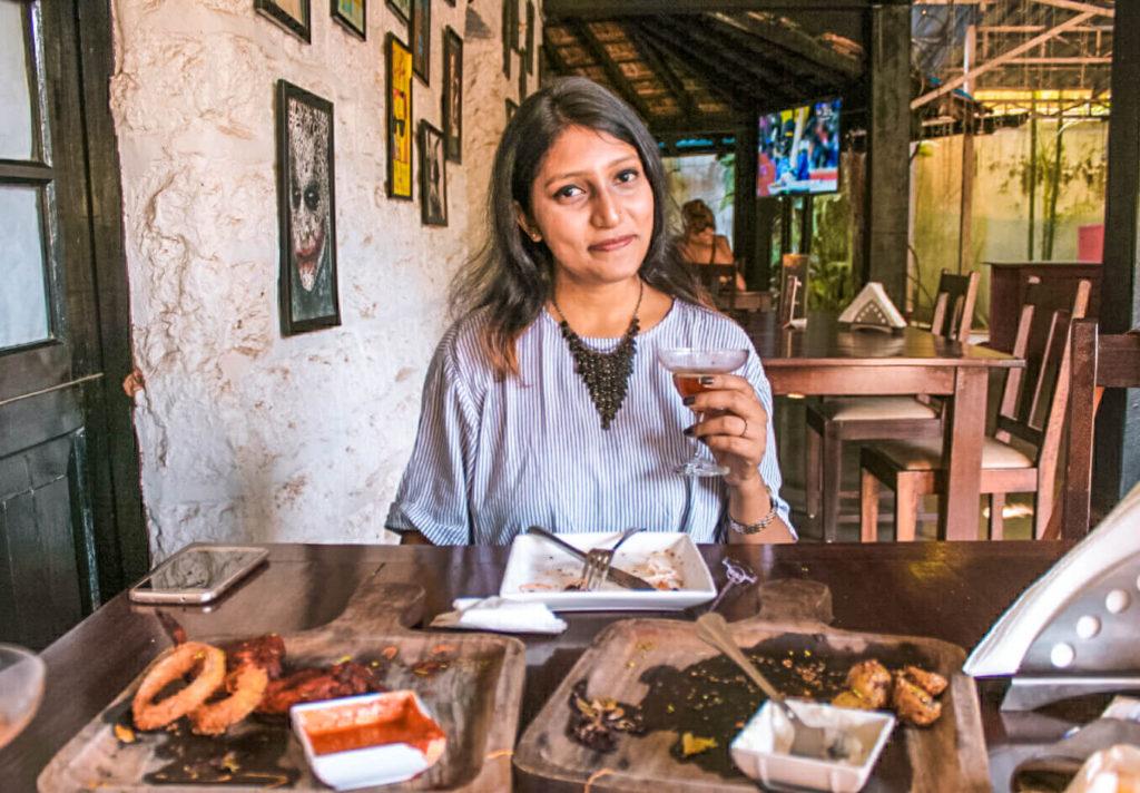 Fontainhas Goa Restaurant Barrels and Bones Panjim, Latin Quarters of Goa