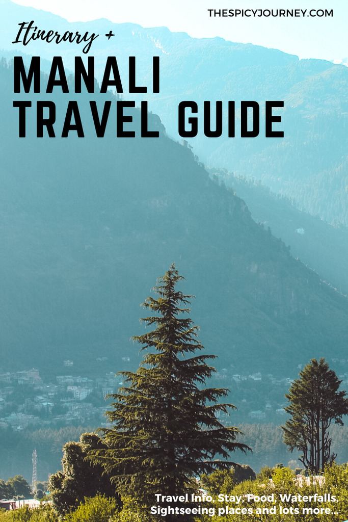Pinterest graphic for Manali travel guide + Manali itinerary for 3 days