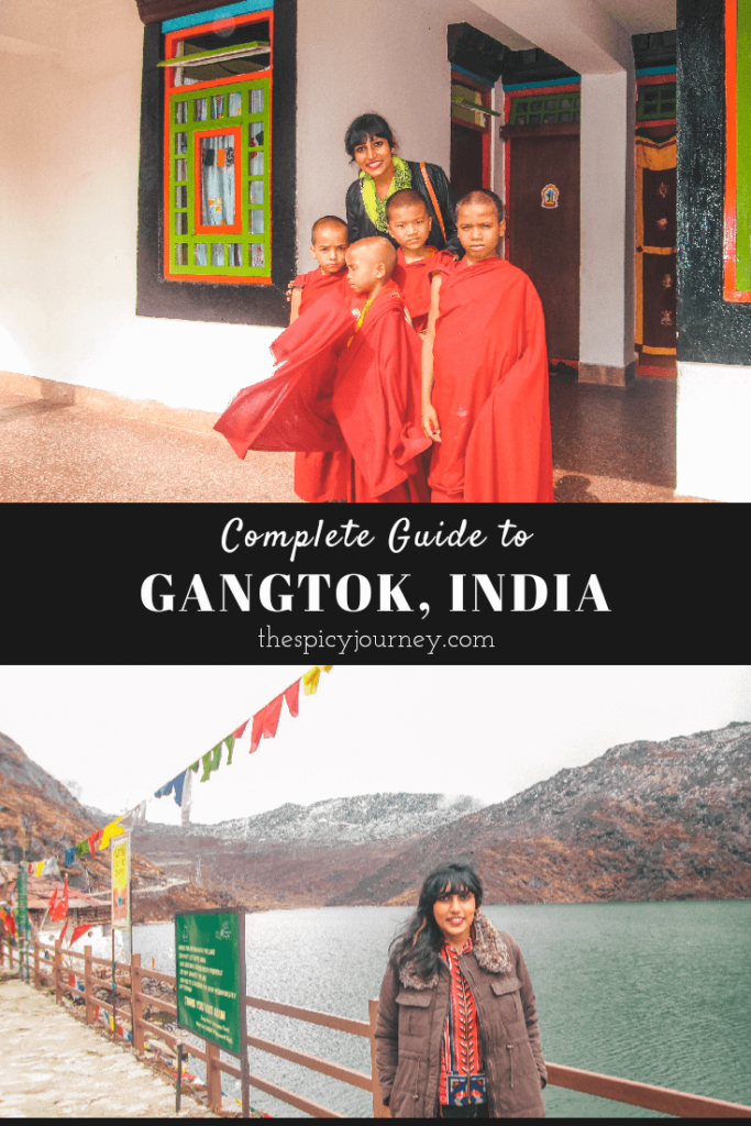 Pinterest graphic for places to visit in Gangtok sightseeing attractions
