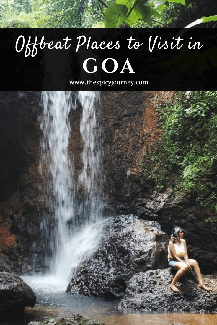 Pinterest graphic for offbeat places in Goa