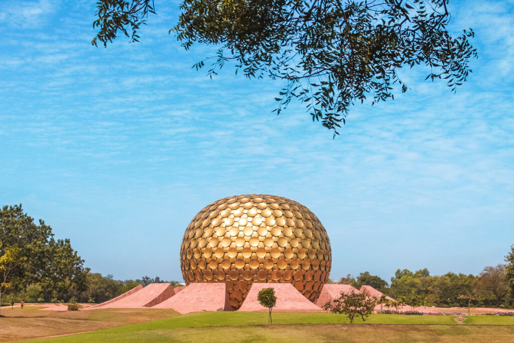 Places to visit in Pondicherry in 2 Days, Pondicherry itinerary - Auroville matrimandir