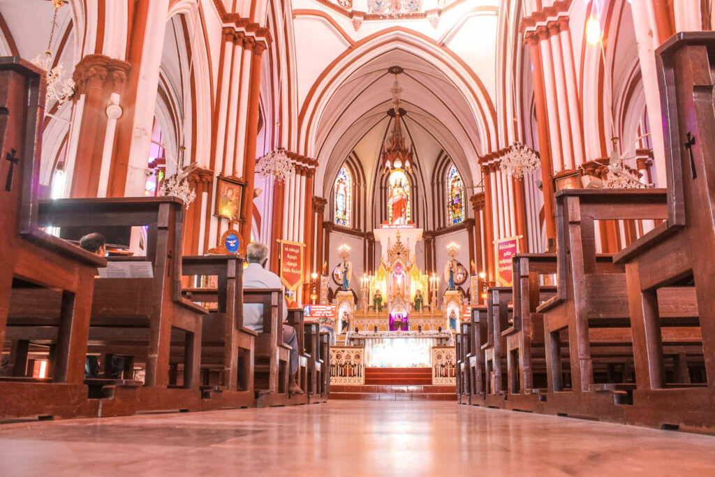 Places to visit in Pondicherry in 2 Days, Pondicherry itinerary - Basilica of Sacret Heart of Jesus