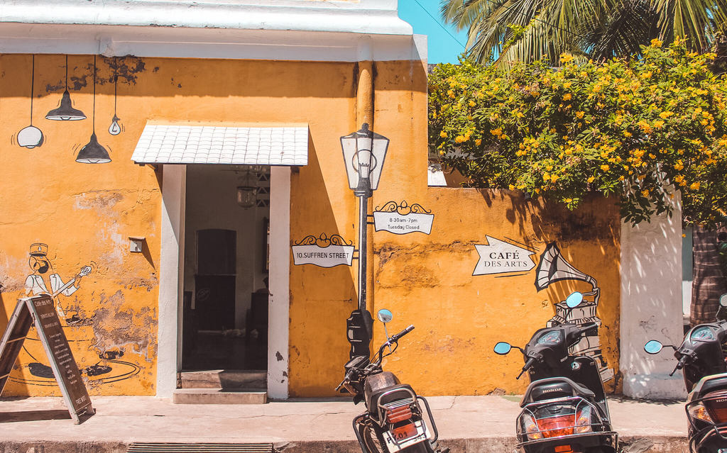 Cafes des Arts - One of the best Pondicherry cafes and best restaurants in Pondicherry