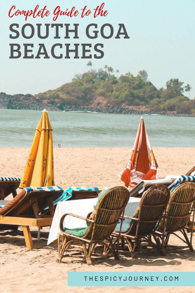 Pinterest graphic for South Goa beaches guide