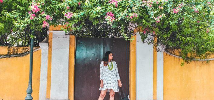 Pondicherry outfit polka dot dress