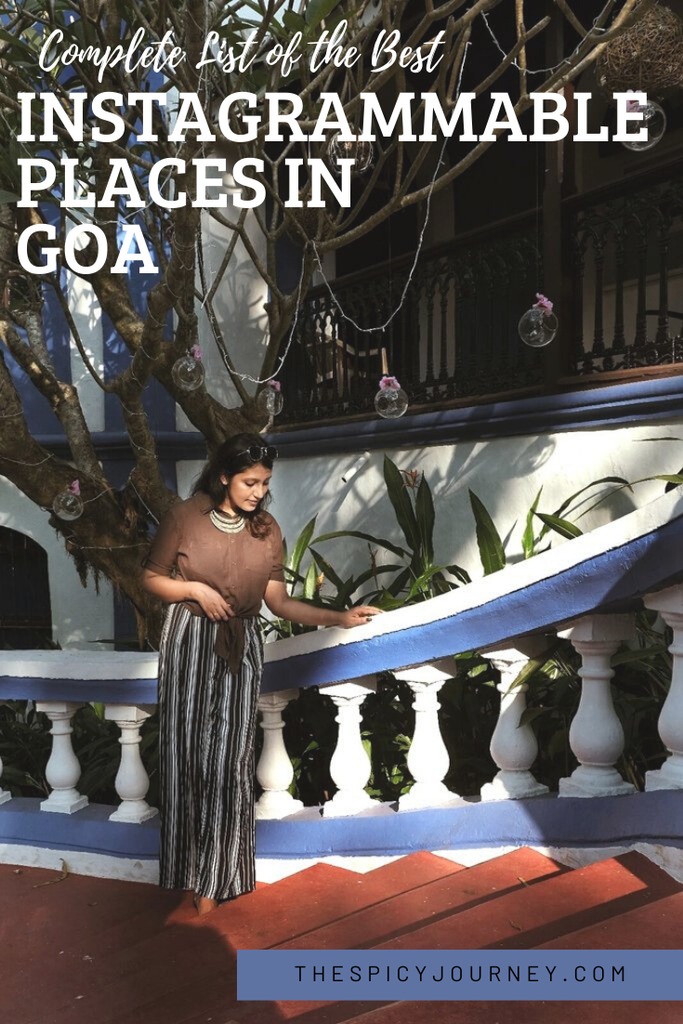 Pinterest graphic for instagrammable places in Goa
