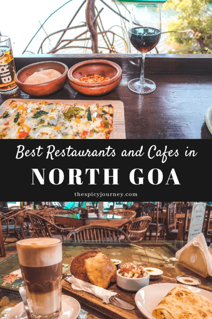 Pinterest graphic for best restaurants in North Goa