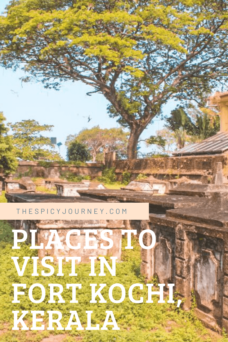 Pinterest graphic for best places to visit in fort kochi and mattancherry