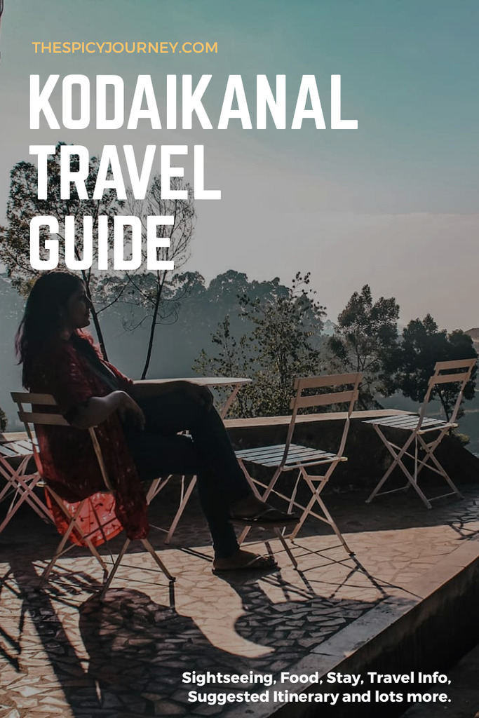 Pinterest graphic for places to visit in Kodaikanal in 2 days