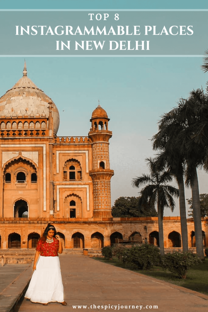 Pinterest Image for Instagrammable Places in Delhi