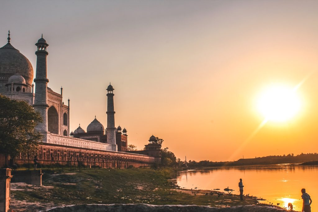 Sunset View of Taj Mahal from Dussehra Ghat