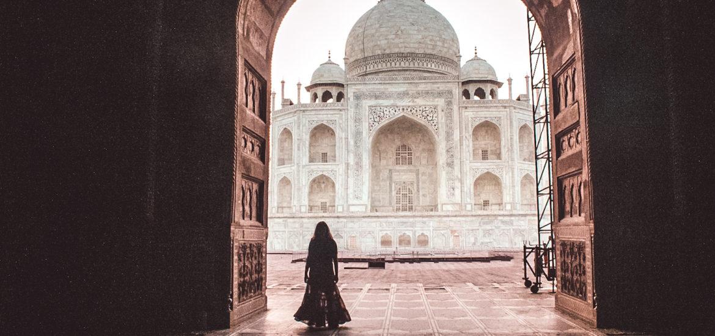 Taj Mahal view from inside the Taj Mahal complex