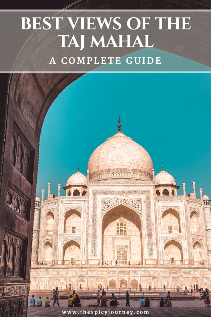 Taj Mahal View - Pinterest image