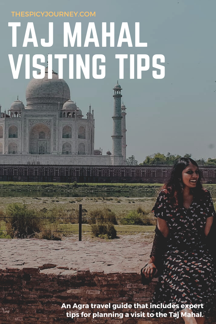 Pinterest graphic for Taj Mahal visit + Agra travel guide