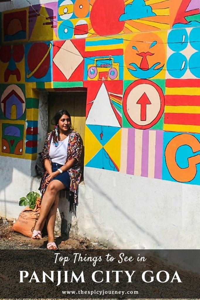 Pinterest graphic for things to do in Panjim city