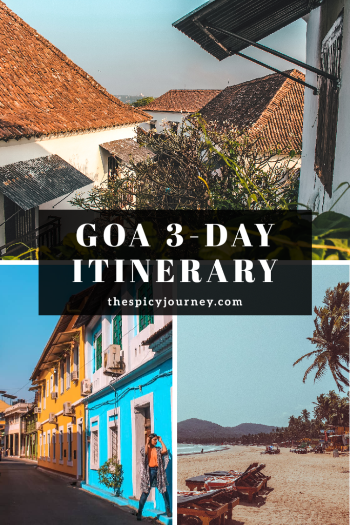 Pinterest Graphic for Places to Visit in Goa in 3 days