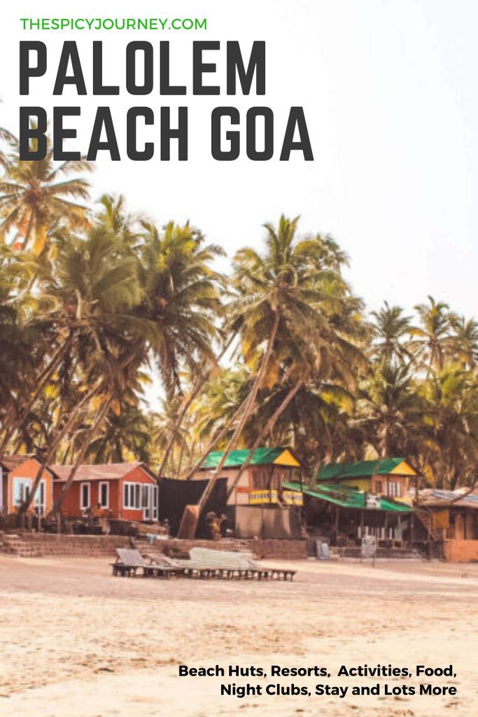 Pinterest graphic for Palolem beach Goa
