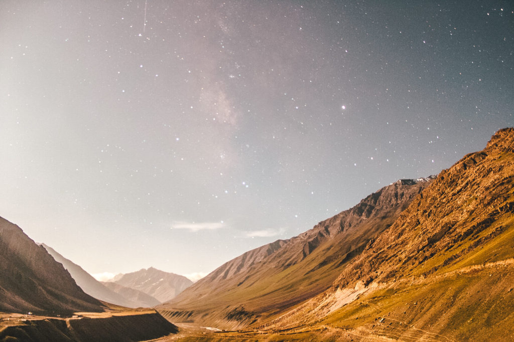 Stargazing in Spiti Valley at Mudh Village, Pin Valley