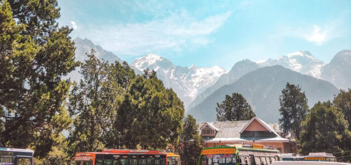 Reckong Peo bus stand in the Kinnaur valley itinerary for 10 days